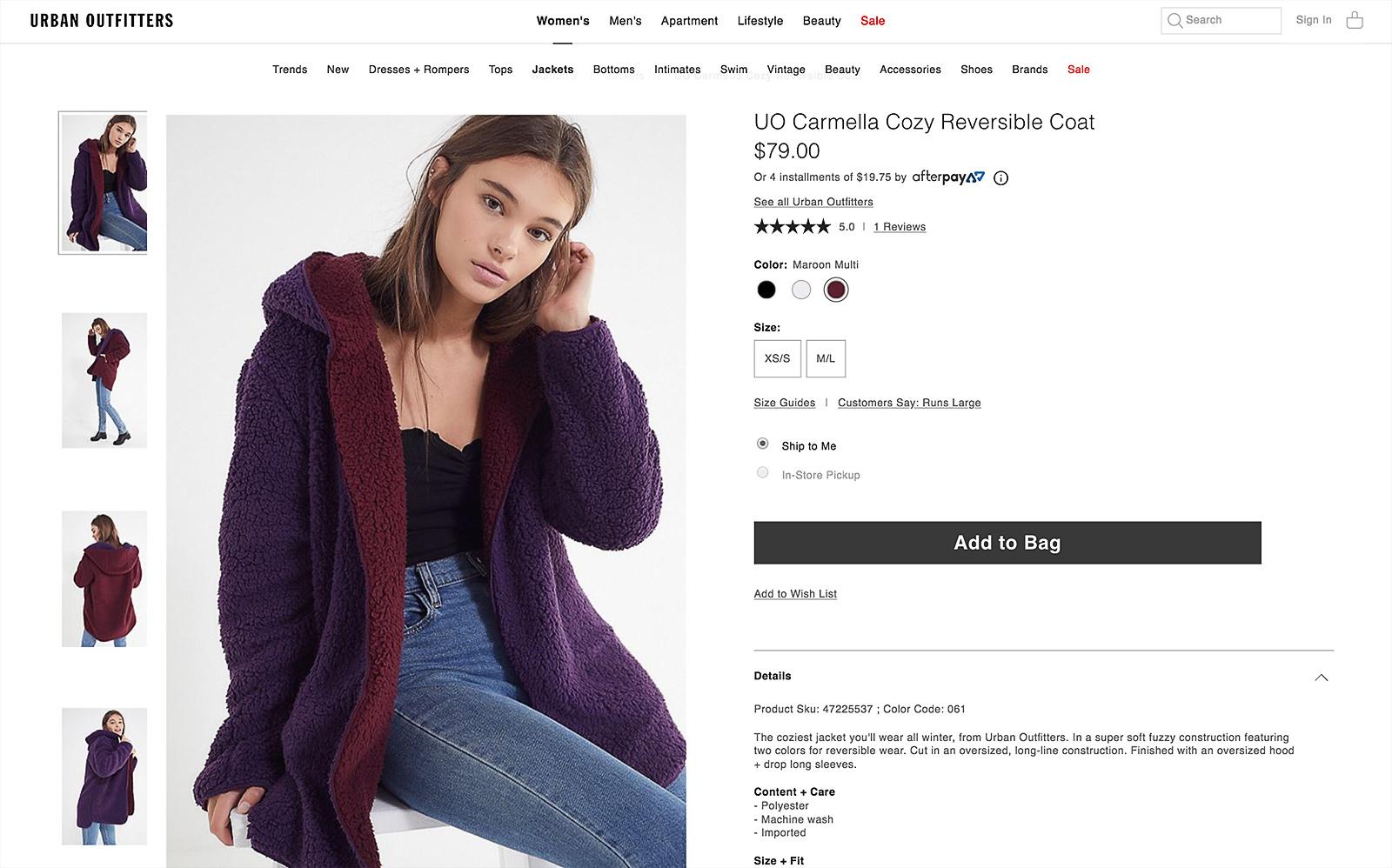 fotografia ecommerce urban outfitters